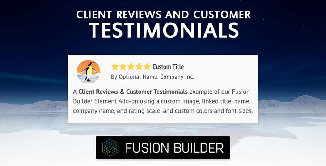 Client Reviews & Customer Testimonials Element Add-on for Avada & Fusion Builder