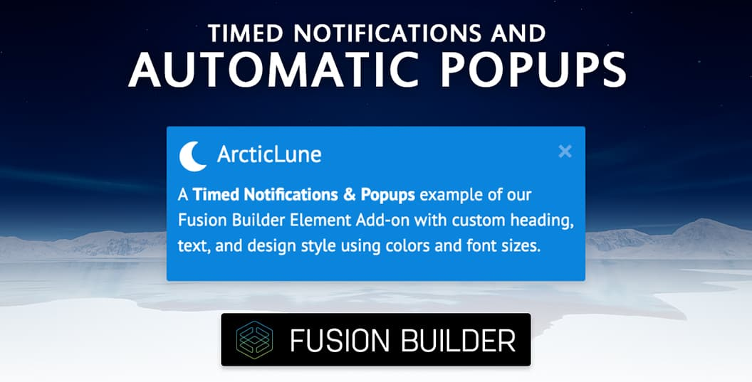 Timed Notifications & Automatic Pop-ups Element Add-on for Avada & Fusion Builder