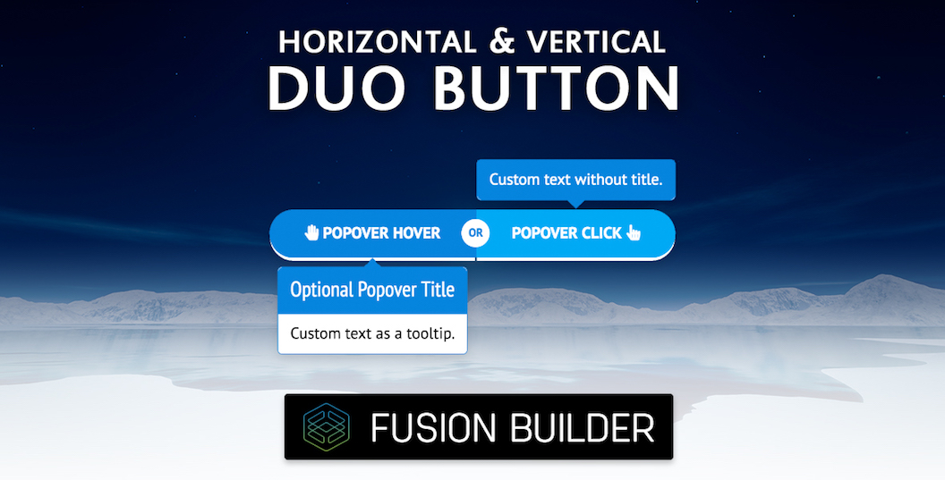Horizontal & Vertical Duo Button Element Add-on for Avada & Fusion Builder